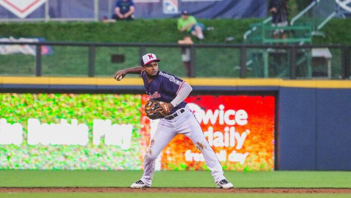 Nashville Sounds' Pablo Reyes hits Grand Slam to lead Sounds Over Indianapolis Indians, 8-3. (Nashville Sounds)