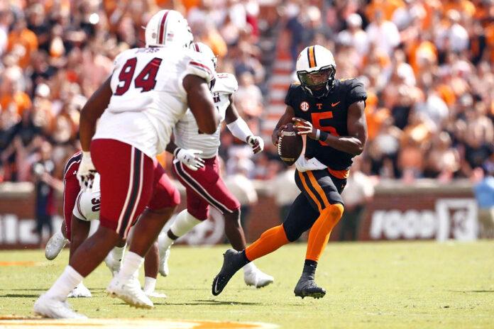 Tennessee Vols Football rolls to 45-20 win over South Carolina at Neyland Stadium, Saturday. (UT Athletics)