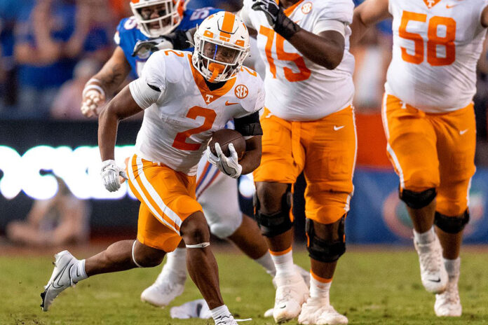 Tennessee Vols Football is on the road Saturday for an afternoon game against the Missouri Tigers. (Andrew Ferguson, UT Athletics)