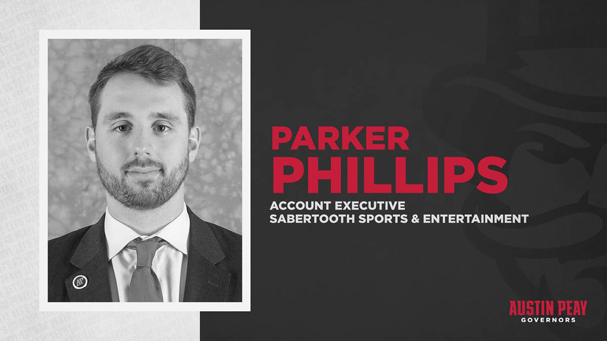 Parker Phillips returns to Austin Peay State University Athletics as member of SS&E staff. (APSU Sports Information)