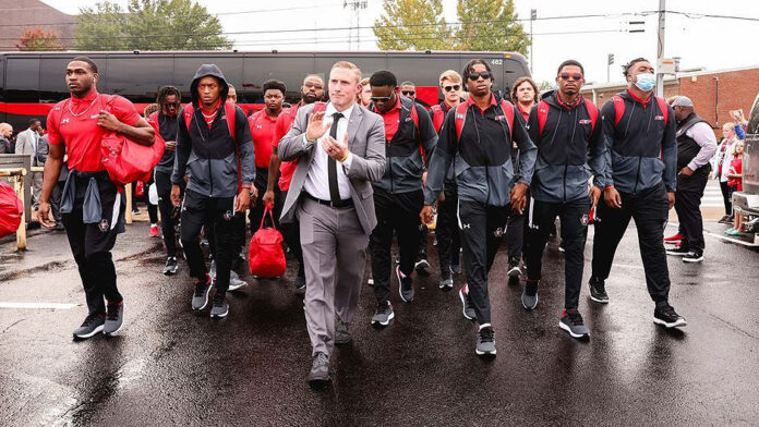 Austin Peay State University Football Gov Walk will take place Saturday at 12:20pm at Tailgate Alley in front of Fortera Stadium. (APSU Sports Information)