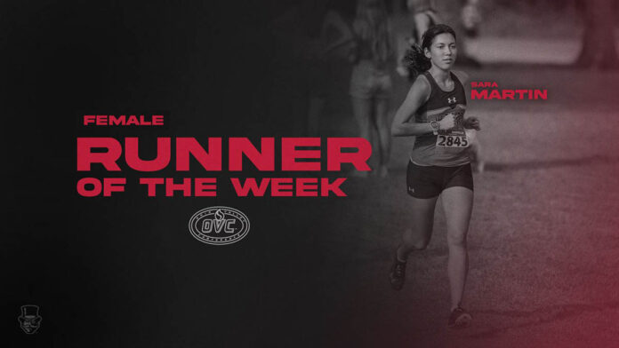 Austin Peay State University Women's Cross Country senior Sara Martin named OVC Cross Country Female Runner of the Week. (APSU Sports Information)