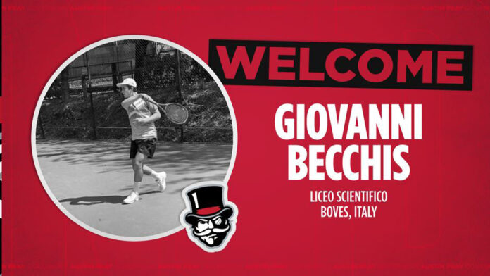 Austin Peay State University Men's Tennis adds Giovanni Becchis for 2021-22 season. (APSU Sports Information)