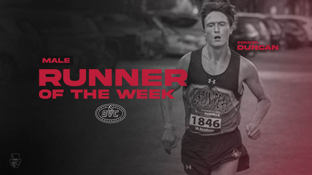 Austin Peay State University Men's Cross Country's Connor Duncan earns OVC Cross Country Male Runner of the Week honor. (APSU Sports Information)