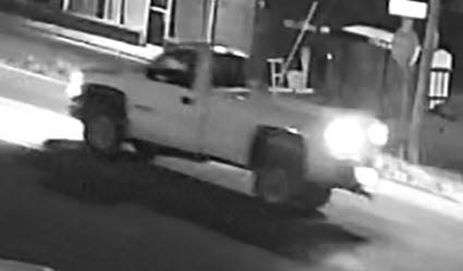 Clarksville Police are looking for the white GMC Sierra pick-up in this photo.