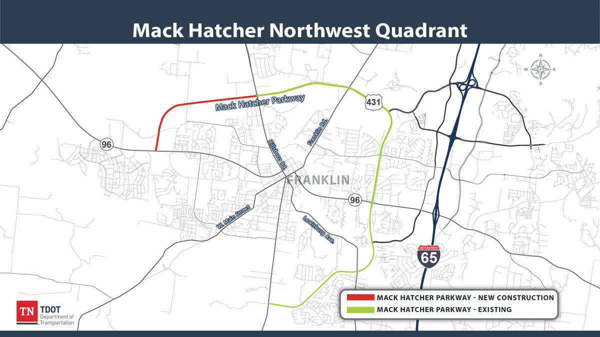 TDOT Mack Hatcher NW Extension project.