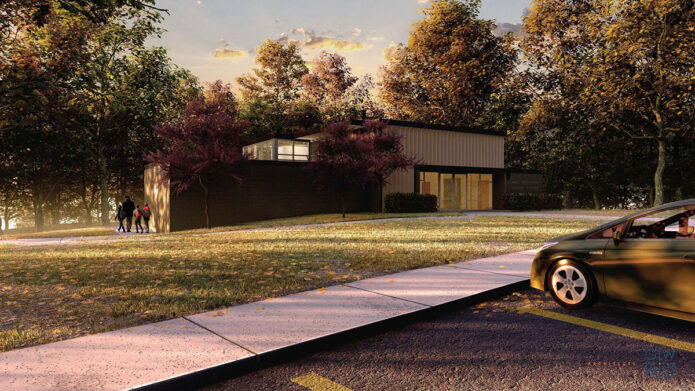 The rehabilitation will provide visitors with a fully modern visitor center experience within the characteristic and historic Mission 66 era facility. (Renderings by GWWO Architects)