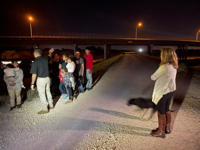 U.S. Senator Marsha Blackburn on the Southern Border observing Border Patrol night operations.