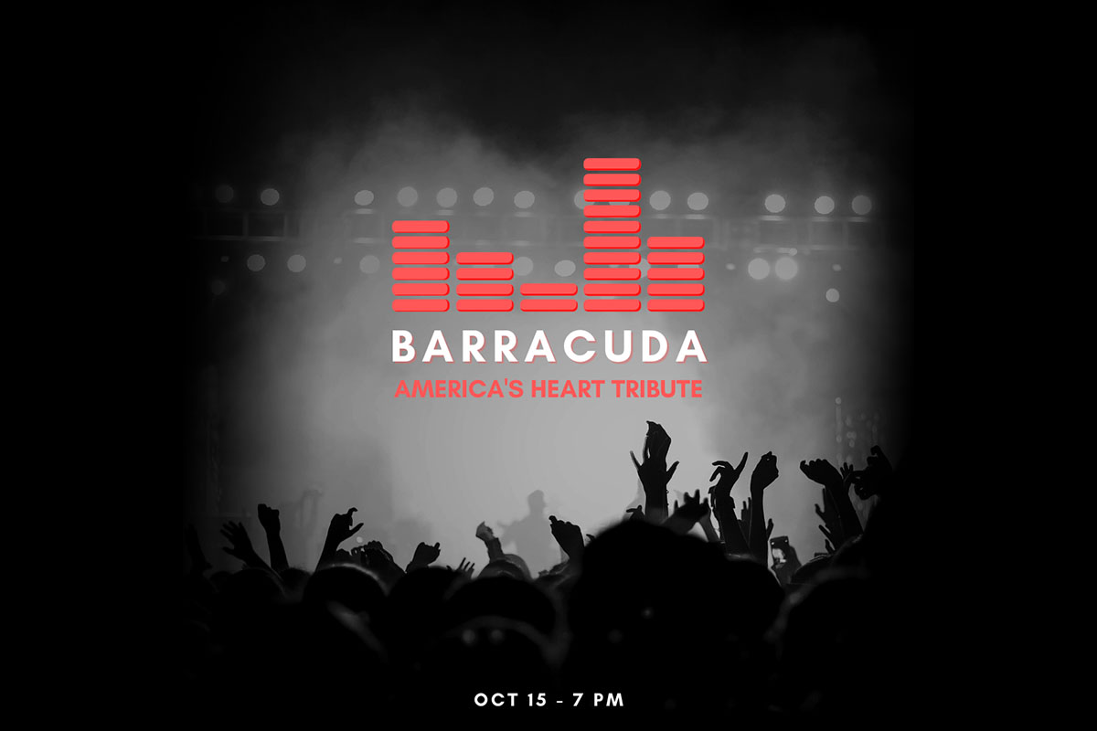 Downtown @ Sundown concert featuring Heart Tribute band Barracuda on Saturday, October 15th has been canceled due to incoming weather.